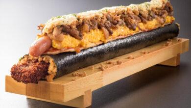 Photo of Patada al estómago: En Japón hay una sushi pizza que pesa 6 kilos