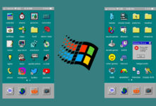 Photo of iOS 14 permite cambiar los iconos de las aplicaciones del iPhone, y el estilo de Windows 95 reina en ellos tras 25 años
