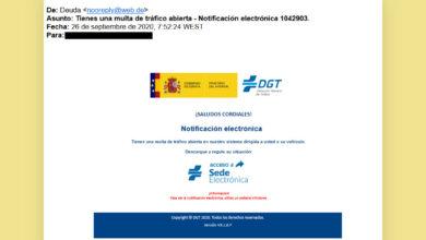 Photo of No te dejes engañar por este correo de phishing que se hace pasar por la  DGT para robar tu DNI y datos bancarios