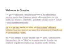 Photo of Shosho presenta un editor que nos anima a escribir más y mejor