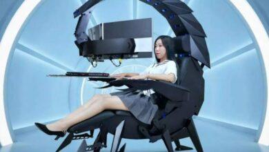 """Photo of Es aerodinámica, se ajusta a tu comodidad y puede soportar una pantalla de 49 pulgadas: conoce la nueva silla """"escorpión"""" de Cluvens"""