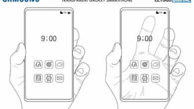 Photo of Esta es la nueva patente de Samsung para un teléfono móvil con pantalla transparente