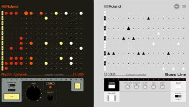 Photo of Un estudio musical para combinar sonidos con los sintetizadores Roland TR‑808 y TB‑303