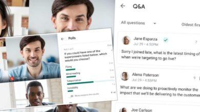 Photo of Google Meet presenta encuestas y Preguntas y Respuestas en videollamadas