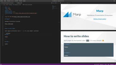 Photo of Marp, la herramienta que nos permite crear presentaciones en modo texto usando Markdown