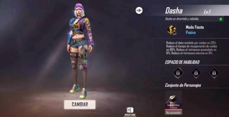Photo of Free Fire: esta es la habilidad del nuevo personaje, Dasha