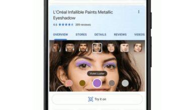Photo of La búsqueda de Google permite probar el maquillaje antes de comprarlo gracias a la realidad aumentada