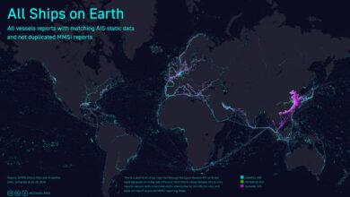 Photo of Todos los barcos del mundo reunidos como píxeles en una sola imagen