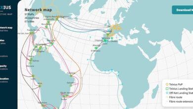 Photo of El mapa interactivo de la red de Telxius muestra por donde van muchos «tubos de internet» de España