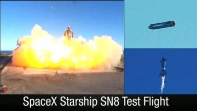 Photo of SpaceX logra el primer vuelo de Starship SN8 con resultados positivos y explosivos
