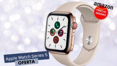 Photo of 518 euros es el precio mínimo al que ha estado el Apple Watch Series 5 GPS+Celular de acero en dorado en Amazon y lo tienes ahora mismo por esa cantidad