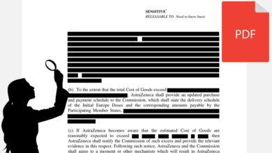 Photo of El PDF del contrato censurado de las vacunas de la UE y AstraZeneca revela por error gran parte de la información