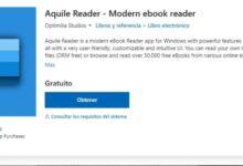 Photo of Aquile Reader, app para Windows 10 para leer y descargar gratis libros electrónicos