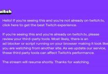 Photo of Twitch ya tiene su pantallazo morado de la muerte: lo muestra durante los directos cuando detecta un 'adblock'