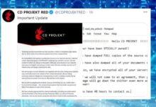 Photo of Creadores de Cyberpunk 2077 sufren ataque ransomware y amenaza con filtración de datos