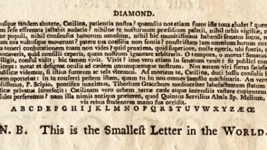 Photo of El tipo de letra más pequeño del mundo en las épocas antiguas: Diamond 4pt