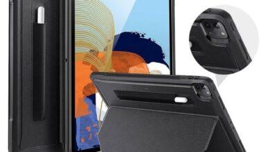 Photo of Otra funda apunta a un iPad Pro 2021 inminente, mostrando menos agujeros para el altavoz