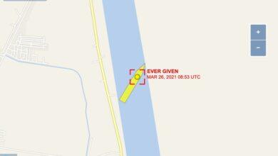 """Photo of """"¿Está ese barco encallado todavía?"""": esta web te muestra si el Ever Given sigue atascando el canal de Suez y la navegación mundial"""