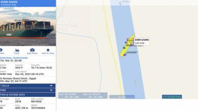Photo of Uno de los más grandes cargueros del mundo ha encallado en mitad del Canal de Suez, provocando el caos en el transporte marítimo