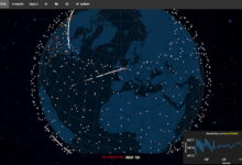Photo of Mapas interactivos en tiempo real de las redes de satélites Starlink y OneWeb