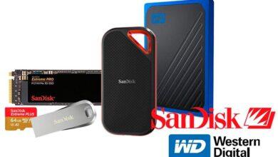 Photo of Ofertas en almacenamiento SanDisk y Western Digital: NAS, discos duros portables y de sobremesa o tarjetas de memoria a los mejores precios en Amazon