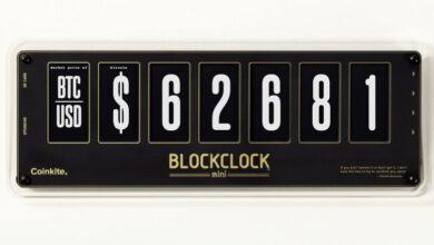 Photo of El estiloso Blockclock Mini es un reloj de varios usos, incluyendo la cotización en tiempo real de Bitcoin
