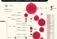 Photo of Los idiomas más hablados del mundo en una gigantesca infografía