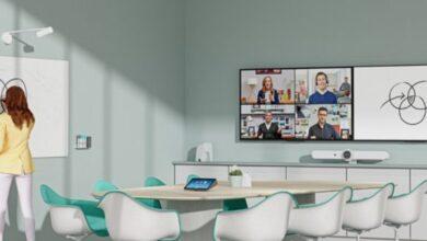 Photo of Una webcam especialmente diseñada para enfocar en pizarras
