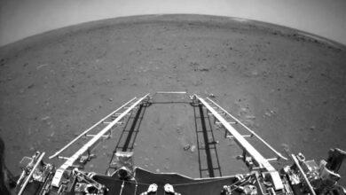 Photo of El rover chino Zhurong envía sus primeras fotos desde Marte