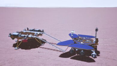 Photo of El rover chino Zhurong ya rueda sobre Marte