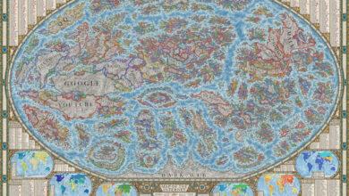 Photo of El Mapa de Internet 2021 de Halcyon Maps incluye miles de sitios web representados a la antigua usanza