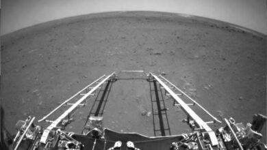 Photo of China muestra las primeras imagenes de su rover Zhurong en Marte