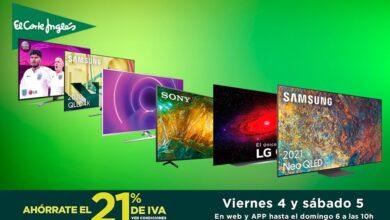 Photo of 13 smart TVs que te salen mucho más baratas en las ofertas de los Días sin IVA de El Corte Inglés: estas LG, Sony, Samsung, o Philips llevan descuentos de hasta un 48%