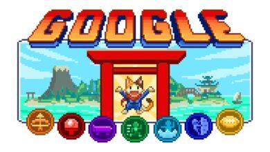 Photo of El mayor doodle hasta la fecha se compone de siete minijuegos que homenajean el olimpismo, la cultura japonesa y los 16 bits