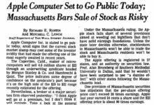 Photo of Cuando las autoridades prohibieron comerciar con las acciones de Apple porque era «demasiado arriesgado»