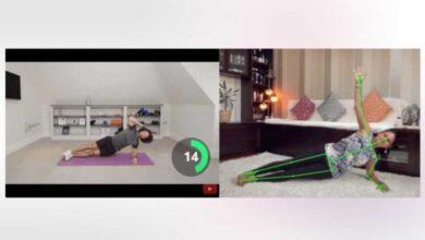 Photo of Hacer ejercicio con la ayuda de una IA, viendo rutinas en YouTube