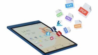 Photo of Una tableta Android con pantalla de tinta electrónica a color