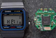 Photo of Una nueva vida para los relojes de pulsera Casio F‑91W con hardware y código abiertos y sensores