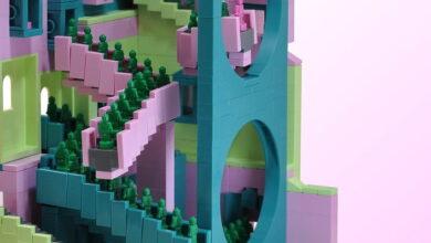 Photo of Las escaleras de «El juego del calamar» en versión Lego